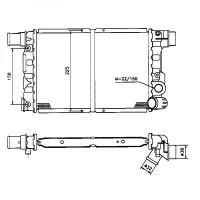 Radiateur, refroidissement du moteur 312 x 214 de 92 à 98 - OEM : 7703429