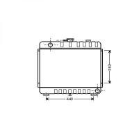Radiateur, refroidissement du moteur 415 x 620 de 76 à 86 - OEM : 6015004003