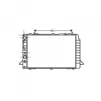 Radiateur, refroidissement du moteur 596 x 408 de 91 à 94 - OEM : 8A0121251G