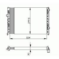 Radiateur, refroidissement du moteur 525 x 377 de 93 à 96 - OEM : 3A0121253B