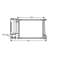 Radiateur, refroidissement du moteur 440 x 320 de 91 à 99 - OEM : 1723537