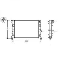Radiateur, refroidissement du moteur 580 x 401 x 28 de 03 à >> - OEM : 46842843