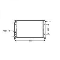 Radiateur, refroidissement du moteur 600 x 322 de 85 à 93 - OEM : X039456860