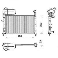 Radiateur, refroidissement du moteur 496 x 322 de 88 à 95