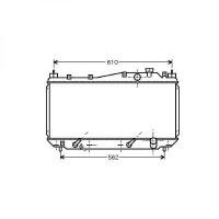 Radiateur, refroidissement du moteur 350 x 658 de 01 à 05 - OEM : 19010PMMA52