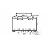 Radiateur, refroidissement du moteur 325 x 630 x 16 de 05 à >> - OEM : 19010RSH-E01