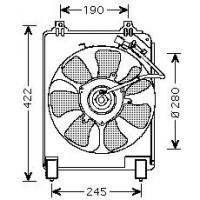 Ventilateur condenseur de climatisation de 05 à 08 - OEM : 38616RNAA01