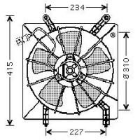 Ventilateur refroidissement du moteur de 98 à 02 - OEM : 19030PAAA01
