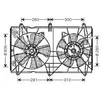 Ventilateur refroidissement du moteur version : Denso de 03 à 08 - OEM : 38616RAAA01