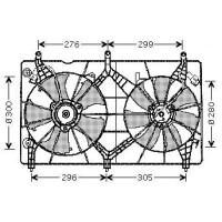 Ventilateur refroidissement du moteur version : Valeo de 03 à 08 - OEM : 38616RAAA02