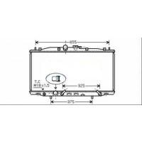 Radiateur, refroidissement du moteur 375 x 713 de 03 à 08 - OEM : 19010RBA901