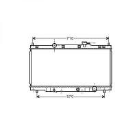 Radiateur, refroidissement du moteur 405 x 736 x 16 de 02 à >> - OEM : 19010PNLG51