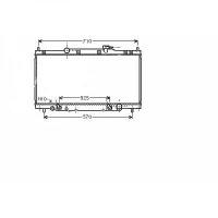 Radiateur, refroidissement du moteur 405 x 736 x 16 de 02 à >> - OEM : 19010PNB902