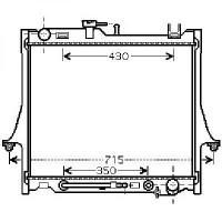 Radiateur, refroidissement du moteur 475 x 990 x 25 de 02 à 05 - OEM : 8973630660