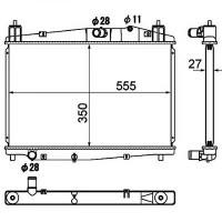Radiateur, refroidissement du moteur 350 x 555 de 07 à >> - OEM : Y40515200