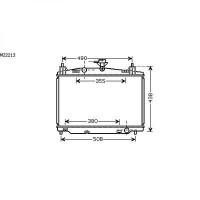 Radiateur, refroidissement du moteur 350 x 555 x 16 de 07 à >> - OEM : ZJ3815200A