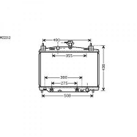 Radiateur, refroidissement du moteur 350 x 555 x 16 de 07 à >>