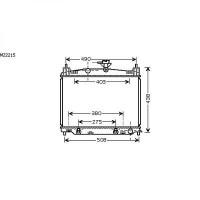 Radiateur, refroidissement du moteur 350 x 515 x 16 de 07 à >> - OEM : ZJ3915200A