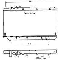 Radiateur, refroidissement du moteur 325 x 680 de 98 à 00 - OEM : ZL0515200