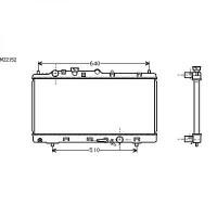 Radiateur, refroidissement du moteur 325 x 680 de 98 à 00 - OEM : ZL0515200B