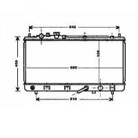 Radiateur, refroidissement du moteur 325 x 689 de 00 à 03 - OEM : ZM4415200