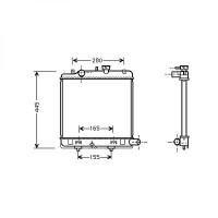 Radiateur, refroidissement du moteur 350 x 382 x 27 de 98 à >> - OEM : B5C815200C