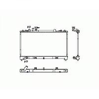 Radiateur, refroidissement du moteur 375 x 728 x 16 de 07 à >> - OEM : L51015200C