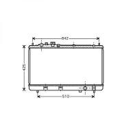 Radiateur, refroidissement du moteur 350 x 703 x 22 de 99 à >> - OEM : PF8615200