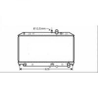 Radiateur, refroidissement du moteur 360 x 642 x 25 de 03 à >> - OEM : N3R115200B