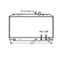Radiateur, refroidissement du moteur 360 x 642 x 25 de 03 à >> - OEM : N3H415200C