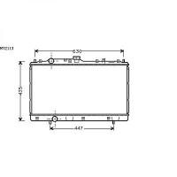 Radiateur, refroidissement du moteur 375 x 660 de 96 à 05 - OEM : MR204591