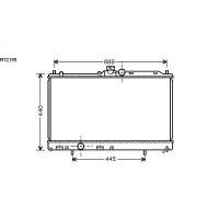 Radiateur, refroidissement du moteur 375 x 685 de 03 à 05 - OEM : MR464612