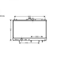 Radiateur, refroidissement du moteur 375 x 685 de 03 à 05 - OEM : MR968734