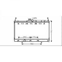 Radiateur, refroidissement du moteur 375 x 685 x 16 de 03 à 07 - OEM : MR968857