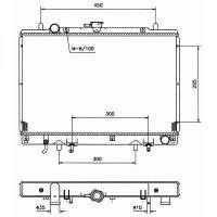 Radiateur, refroidissement du moteur 500 x 638 x 25 de 94 à 00 - OEM : MR258668