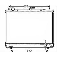 Radiateur, refroidissement du moteur 500 x 697 de 00 à 02 - OEM : MR404863
