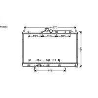 Radiateur, refroidissement du moteur 425 x 690 x 16 de 03 à 06 - OEM : MR993742