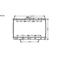 Radiateur, refroidissement du moteur 425 x 690 x 27 de 03 à 06 - OEM : MN156535