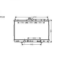 Radiateur, refroidissement du moteur 425 x 690 x 27 de 03 à 06 - OEM : MN156319