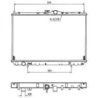 Radiateur, refroidissement du moteur 402 x 665 de 05 à >> - OEM : 86020658
