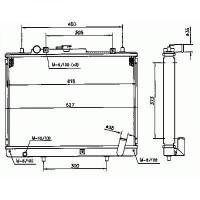 Radiateur, refroidissement du moteur 425 x 600 x 37 de 96 à >> - OEM : MR281023