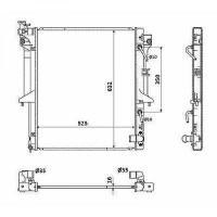 Radiateur, refroidissement du moteur 525 x 635 x 16 de 05 à 12 - OEM : 1350A349