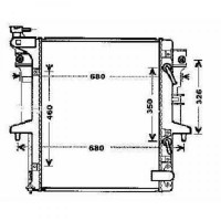 Radiateur, refroidissement du moteur 525 x 635 x 27 de 06 à 12 - OEM : MN135033