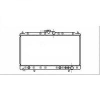 Radiateur, refroidissement du moteur 400 x 718 x 32 de 95 à >> - OEM : MB660673