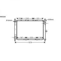 Radiateur, refroidissement du moteur 510 x 375 x 34 de 05 à >> - OEM : 21410BC500