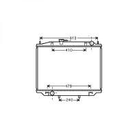 Radiateur, refroidissement du moteur boite manuelle de 5. à >> - OEM : 2145007F000