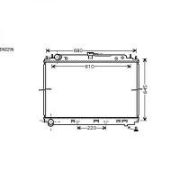 Radiateur, refroidissement du moteur 600 x 685 de 05 à 10 - OEM : 21410EB31A