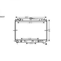 Radiateur, refroidissement du moteur 600 x 685 de 05 à 10 - OEM : 21460EB31A