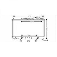 Radiateur, refroidissement du moteur 500 x 687 x 16 de 98 à 04 - OEM : 214604W017