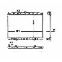 Radiateur, refroidissement du moteur 450 x 690 de 01 à 07 - OEM : 21410EQ30B